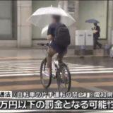 自転車の傘は違反の画像