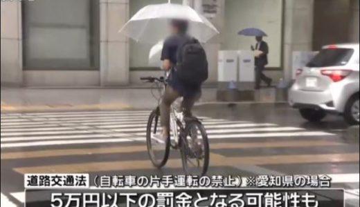 自転車の傘は違反で罰金はいくら?スタンドやホルダーの紹介