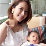 神戸蘭子と子供の画像