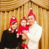 長友佑都と平愛梨と子供の画像