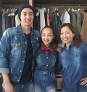 倉沢淳美と娘のケイナと息子の画像
