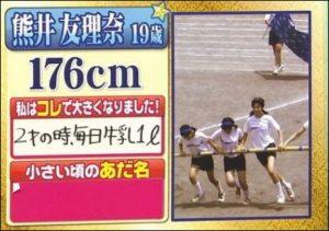 熊井友理奈の中学年のときの画像