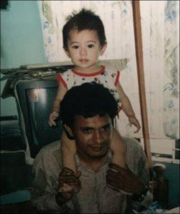菊池梨沙と父親の画像