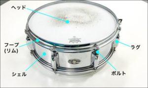ドラムのリム画像