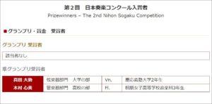 『日本奏楽コンクール』の結果